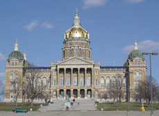Iowa capitol building.