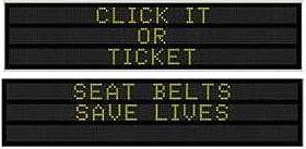 DOT seatbelt sign