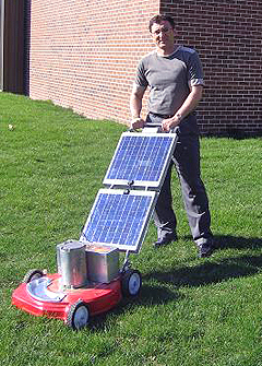 UNI solar powered lawn mower