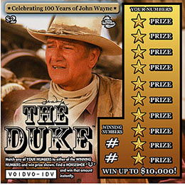 John Wayne lottery ticket