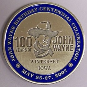 John Wayned commerative medallion