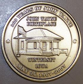 John Wayne medalion