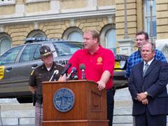 Governor Culver unveils flex-fuel patrol car