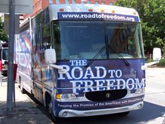 Fredom Tour bus