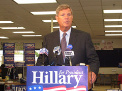 Tom Vilsack at event for Hillary Clinton.