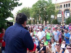 Bill Richardson at Iowa State Fair