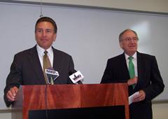 Grad View President Kent Henning, Senator Tom Harkin