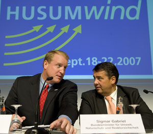 Governor Chet Culver with Sigmar Gabriel, the Federal Secretary of Environment in Germany