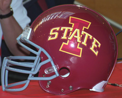 New ISU logo on football helmet