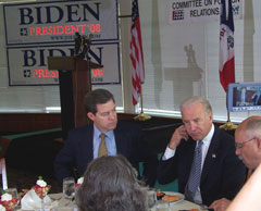 Senators Sam Brownback, Joe Biden