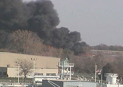 Fire view from DOT Interstate camera