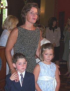 First Lady Mari Culver and her children