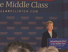 Hillary Clinton campaigning in Knoxville
