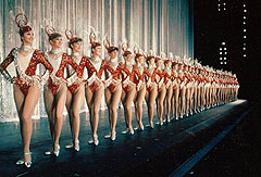 Rockettes on stage