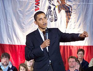 Barack Obama in Indianola, IA