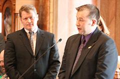House Speaker Pat Murphy, Representative Ray Zirkelbach