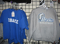 Drake t-shirts and sweatshirts are hot sellers as the basketball team continues to win