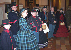 Several people dressed in Civil War era clothes helped kick of the Iowa Lincoln Bicentennial