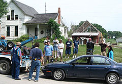 "On the movie set of ""Haunting Villisca"""