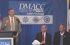 DCI director Steve Bogle, DMACC President Rob Denson, Congressman Tom Latham