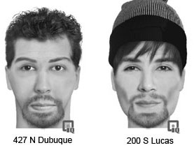 Composite sketches of suspects in Iowa City assaults