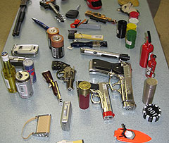 Firefighters are warning parents about lighters like these that look like toys and guns.