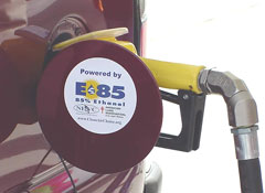 A new report says Iowans are pumping more E-85 fuel.