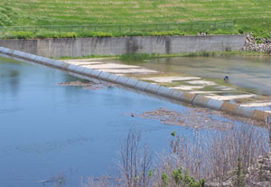 Water is creeping closer to the Saylorville Resevoir emergency spillway. Its expected to go over Wednesday morning.