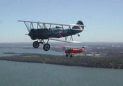 Vintage biplanes.