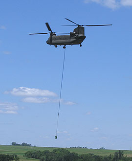 ING Chinook removes pump from Cedar Rapids well.