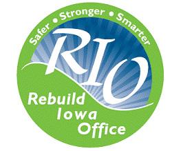 Rebuild Iowa logo.