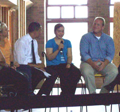 Barack Obama, Katherine Marcano, Governor Chet Culver