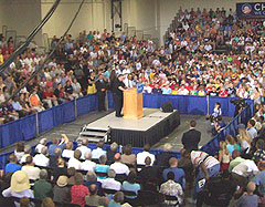 Obama rally in Cedar Rapids.