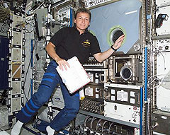 Peggy Whitson aboard space station.