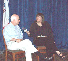 John McCain and Radio iowa News Director, O.Kay Henderson