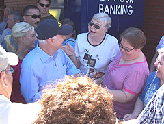 John McCain greets the public at the Iowa State Fair.