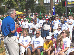 Iowa Senator Tom Harkin (D) at the Iowa State Fair.