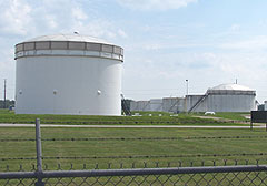 Storage tanks at Magellan Pipeline terminal.