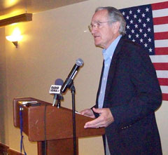 Iowa Senator Tom Harkin at the Democratic National Convention in Denver.