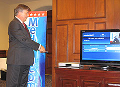 Ed Pardini of Mediacom provides a demonstration of the GED On Demand features.