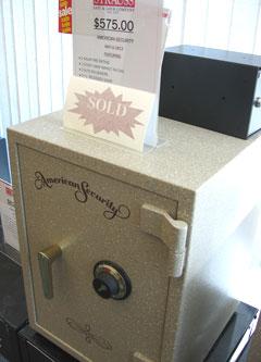 Safe at Strauss Lock Company.