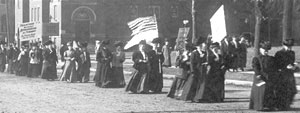 Suffrage marchers.