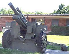 Artillery piece at Gold Star Museum.