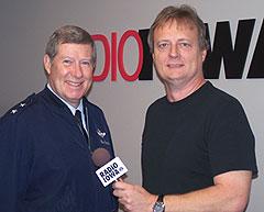 General Ron Dardis, with Radio Iowa's Dar Danielson.