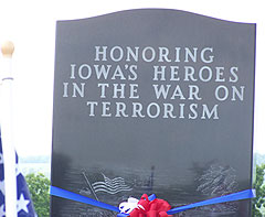 Monument at Iowa Veteran's Cemetery.