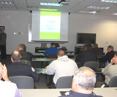 Law officers get training in child alert system.