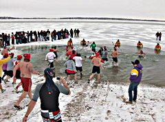 Polar Bear Swim at Clear Lake.
