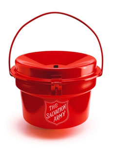 Salvation Army kettle.