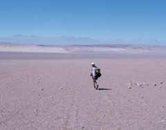 Rusty Bishop runs in races through terrain like this.