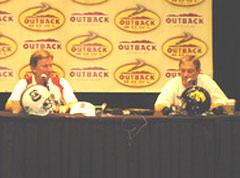 South Carolina coach Steve Spurrier, Iowa coach Kirk Ferentz